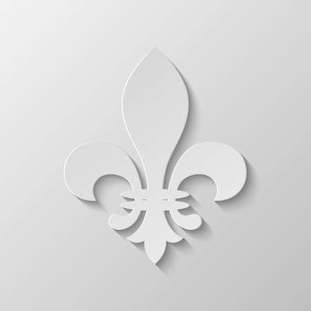 distinguishing: Paper Fleur de lis. Vector EPS10 illustration. Illustration