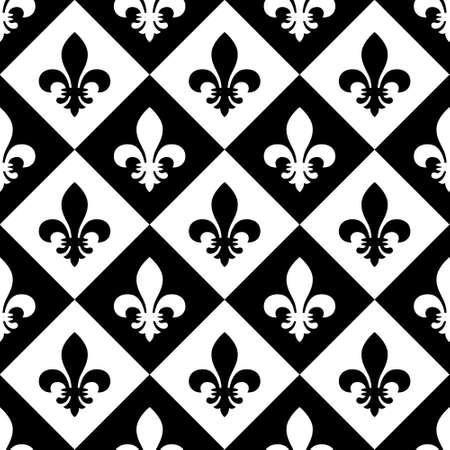 Fleur de lis seamless pattern. Vector EPS8 illustration. Illustration