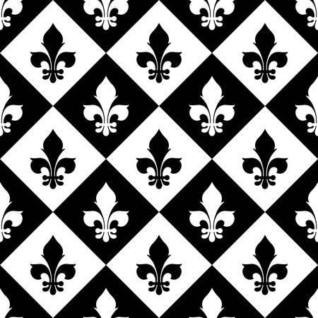 distinguishing: Fleur de lis seamless pattern. Vector EPS8 illustration. Illustration
