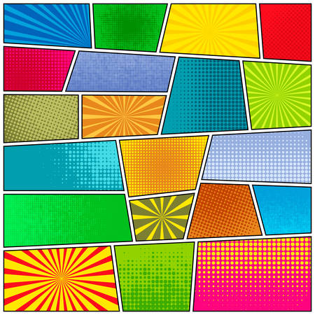 Comic strip background. Pop-art style. Vector EPS10 illustration.