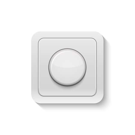 dimmer: Realistic switch isolated on white.