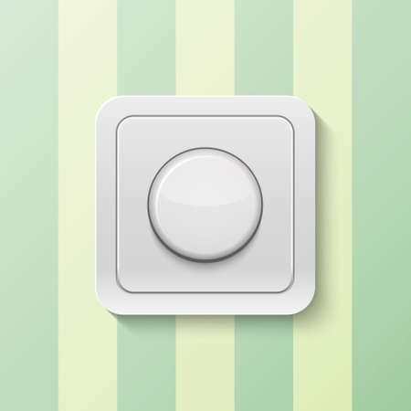 switch on: Realistic switch isolated on white. Vector illustration.