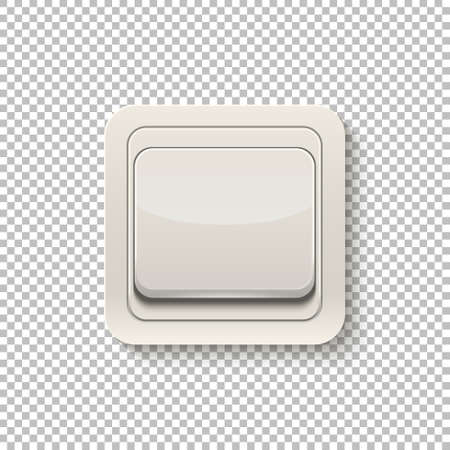 dimmer: Realistic switch isolated on a transparent background. Vector illustration. Illustration