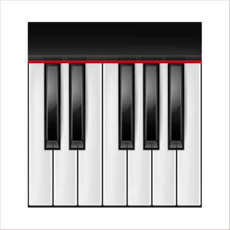 Realistic piano keys isolated on a white background. Octave.  Vector illustration. Illustration