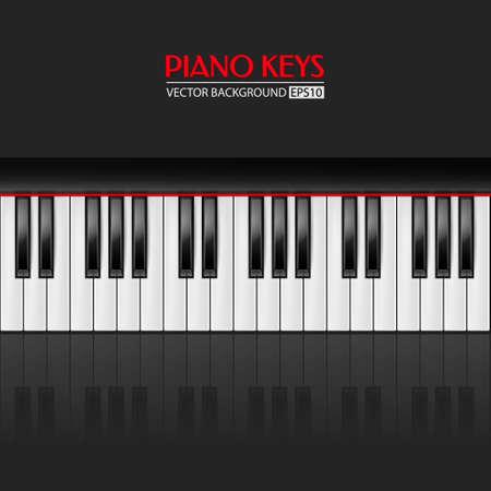 clavier: Background with realistic piano keys. Piano design, piano web, piano art, piano app. Vector illustration.