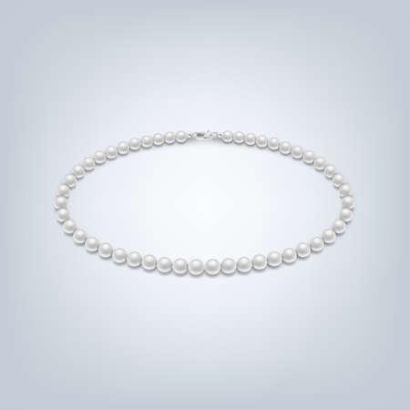 pearl necklace: Isolated pearl necklace. Pearl necklace icon vector, isolated vector pearl necklace, pearl necklace image, pearl necklace template, pearl necklace design, pearl necklace background. Vector EPS10 illustration. Illustration
