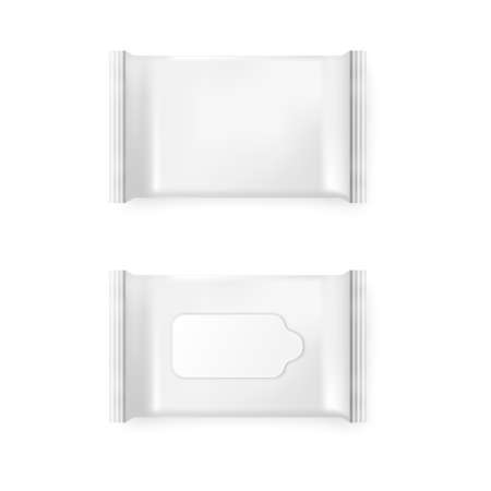 Pack of wet wipes on a white background. Pack of wet wipes icon , isolated pack of wet wipes, pack of wet wipes image, pack of wet wipes template, pack of wet wipes  design. Иллюстрация