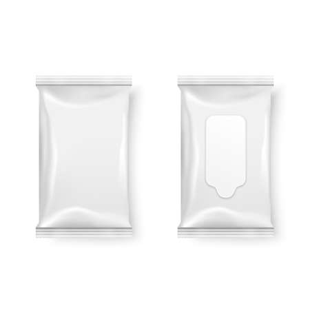 Pack of wet wipes isolated on a white background. Wet wipes set. Wet wipes vector. Wet wipes Art. Wet wipes isolated. Wet wipes Picture.Wet wipes image. Wet wipes logo. Wet wipes design. Wet wipes mockup. Wet wipes vector design. Vector EPS10 illustration