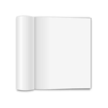 blank magazine: Blank opened magazine, isolated on a white background. Vector EPS10 illustration.