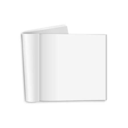 blank magazine: Blank opened square magazine, isolated on a white background. Vector EPS10 illustration. Illustration
