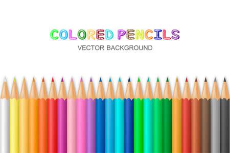 Vector de fondo con lápices de colores. Ilustración de vector