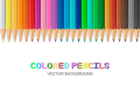 colored pencils: Vector background with colored pencils.