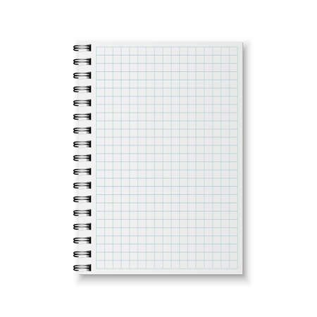 spiral notebook: Blank realistic spiral notebook isolated on a white background. Illustration