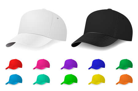 baseball caps: Set of baseball caps. Vector EPS10 illustration.