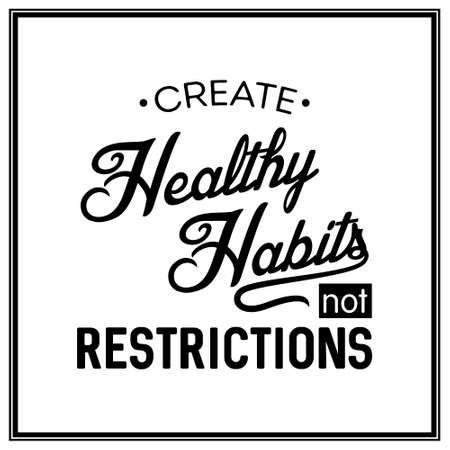 건강한 습관되지 제한 만들기 - 인쇄상의 포스터.