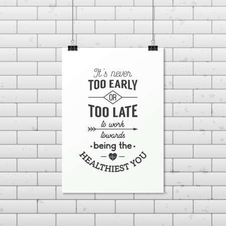 Het is nooit te vroeg of te laat om te werken op weg naar de gezondste u