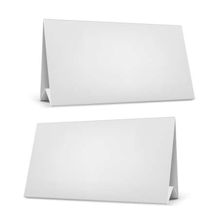 desk calendar: Realistic white blank desk calendar with stand.
