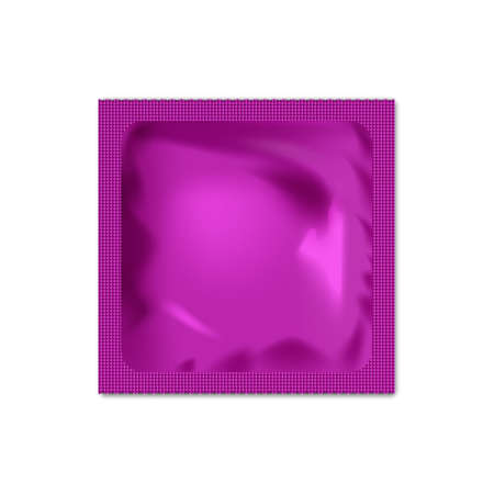packaging aids: Realistic blank packaging foil wet wipes, food packing or condom template.