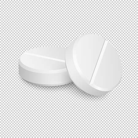 Two vector realistic medical pill icons. Ilustracje wektorowe