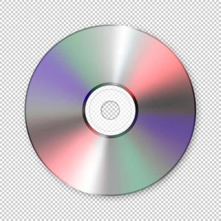 Realistic vector cd icon. Design template.