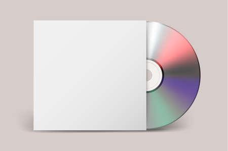 Realistic vector cdwith cover icon. Design template. Vettoriali