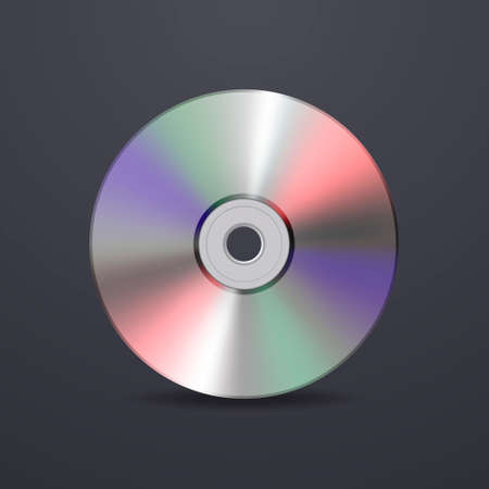 recordable: Realistic vector cd icon. Design template.