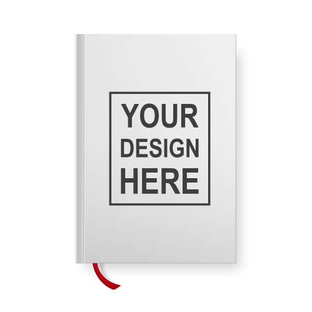 noname: Realistic book blank cover isolated on white. Vector mock up.