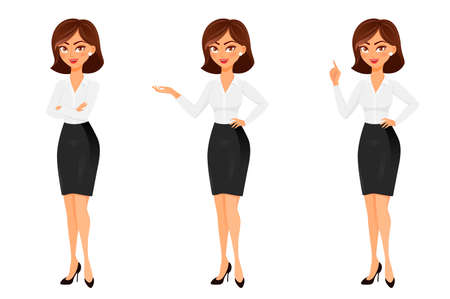 Businesswoman in different poses.