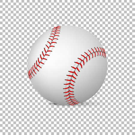 fastball: Realistic vector baseball isolated, Design template in EPS10.