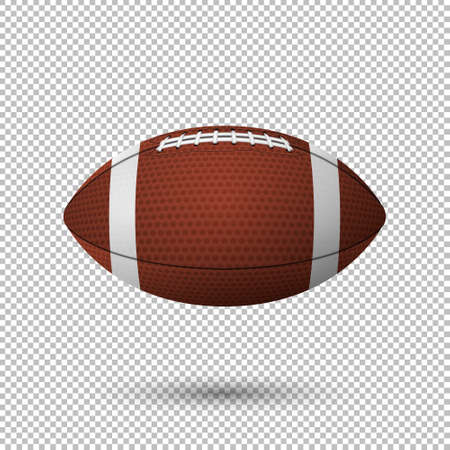 temlate: Vector realistic flying football closeup isolated on transparent background. Design template in EPS10.