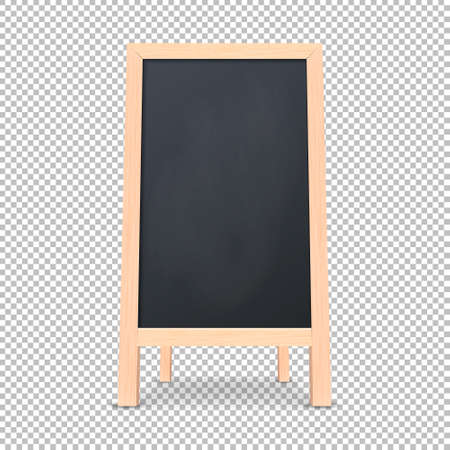 Realistic special menu announcement board icon. Vector clean restaurant outdoor blackboard background. Mockup of chalkboard for restaurant menu, isolated on transparent background.