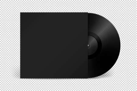 Realistic music gramophone vinyl
