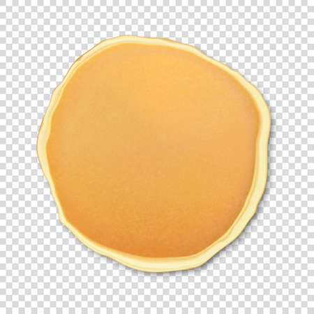 Realistic pancake Stock Illustratie