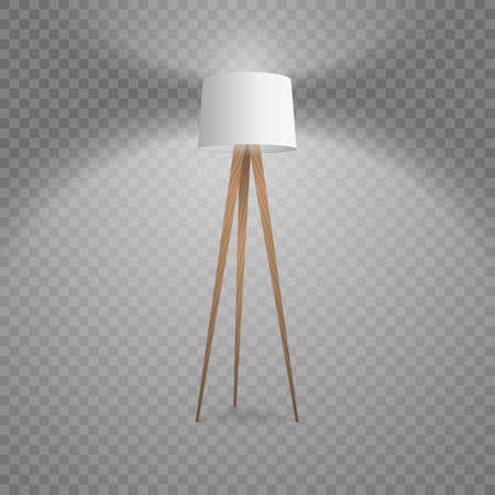 Realistic 3d white standing lamp