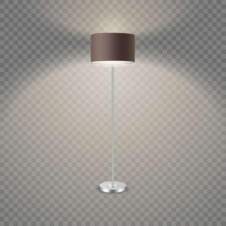 Black standing lamp in dark