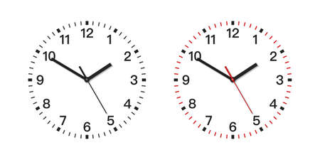 Vector Realistic clock on white
