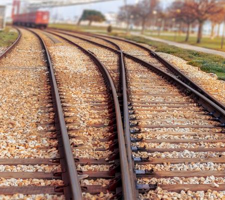 railtrack: Rail tracks Stock Photo