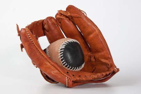 gant de baseball: Gant de baseball avec une balle