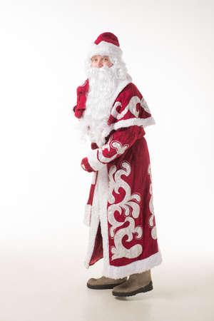 snegurochka: Russian Santa Claus Stock Photo