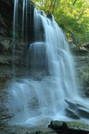 watershed: Waterfall in the Carolinian Forest at Rock Glen Conservation Area - Arkona, Ontario, Canada
