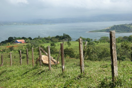 Farm and Pasture next to Lake Arenal - Costa Rica