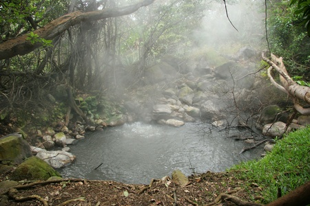 Steam Rising from FumaroleNatural Hot Spring - Rincon de la Vieja,  Costa Rica
