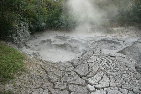 Kokende modder Pot - Rincon de la Vieja, Costa Rica Stockfoto