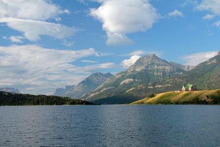 Historic Prince of Wales Hotel - Waterton Lakes National Park, Alberta Stock Photo