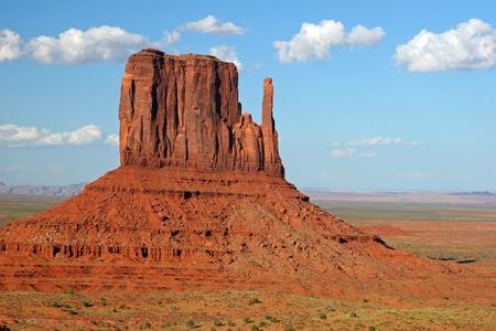 monolith: Left Mitten Rock Formation - Monument Valley, Arizona Stock Photo