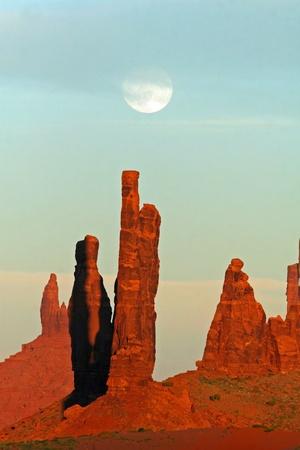 Moonrise over Monument Valley - Arizona Stock Photo - 11583280