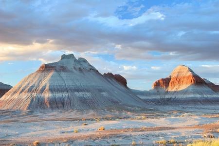 Petrified Forest Tepee Formations - Arizona 免版税图像