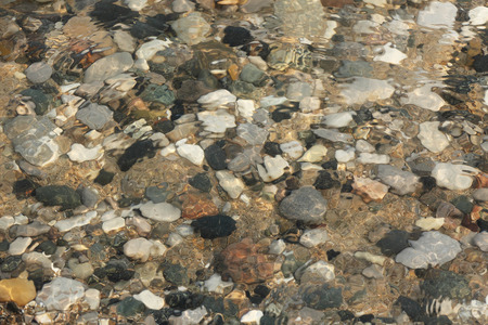 pinery: Water Washing Over Pebbles on a Lake Huron Beach - Grand Bend, Ontario, Canada