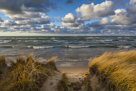 shores: Storm Clouds Over Lake Huron in November - Grand Bend, Ontario, Canada