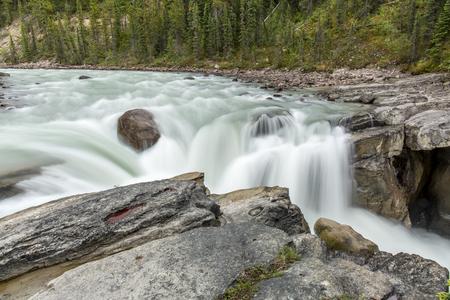 alberta: Waterfall in Jasper National Park - Alberta, Canada
